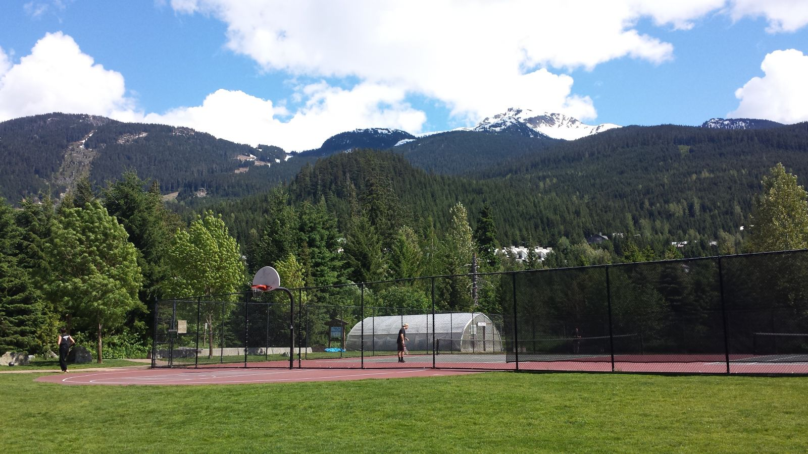 Basketball courts at Whistler Alpha Lake