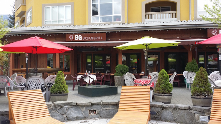 BG Urban Grill in Whistler Blackcomb