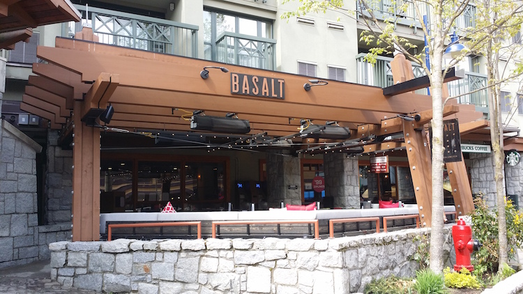 Basalt wine bar in Blackcomb