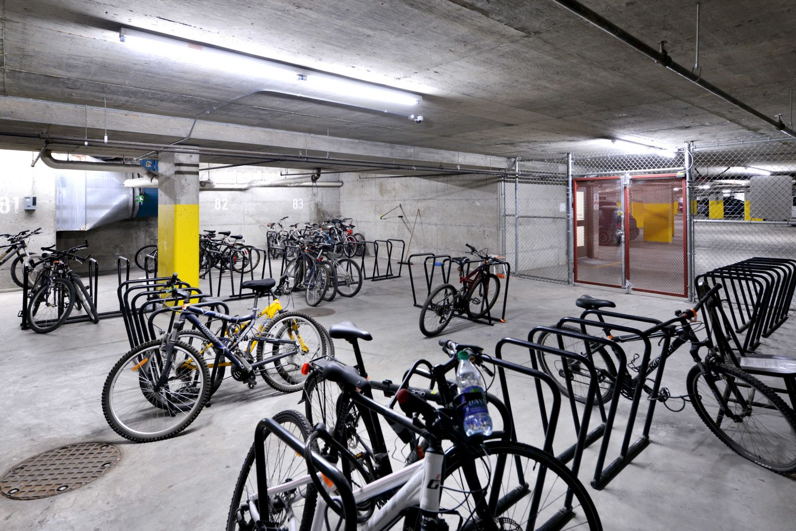 Bike storage in the Aspens Lodge garage