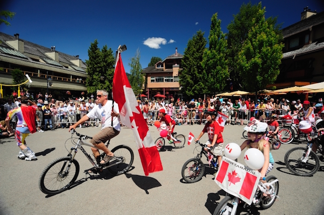 Bikes in the Whistler Canada Day parade