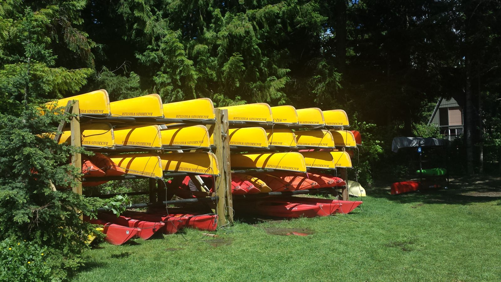 Canoes at Alta Lake Whistler