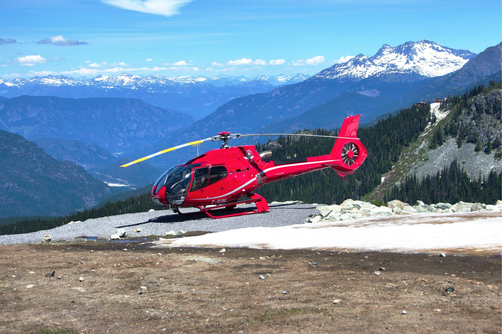 Helicopter on Whistler