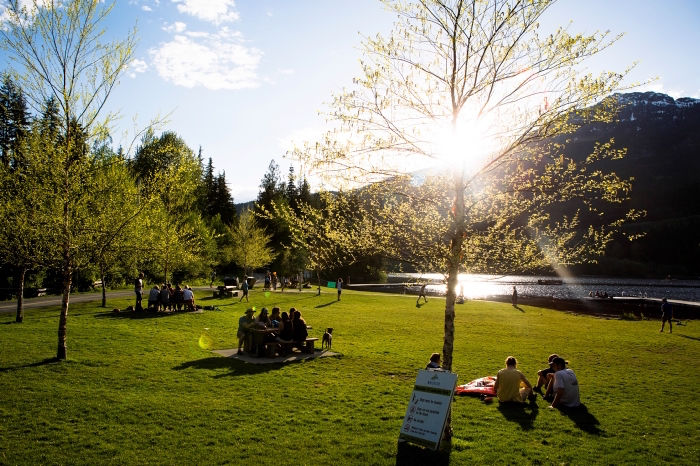 Sunset at Lakeside Park in Whistler