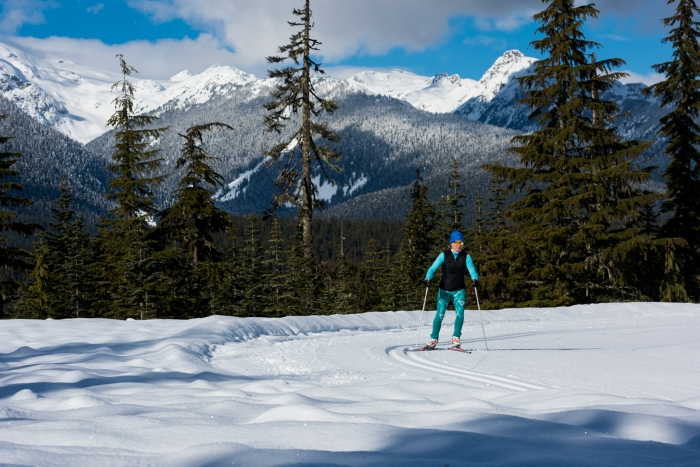Cross country skiing in Whistler