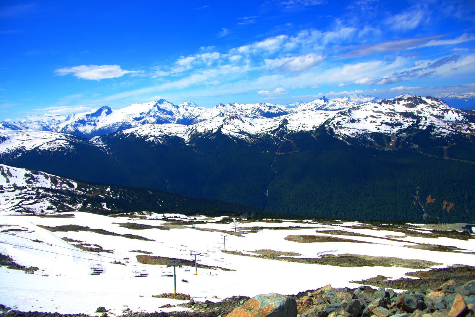 Top of Whistler in the summer