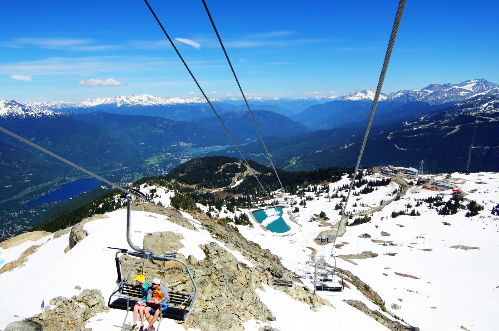 Peak Chair on Whistler in the summer