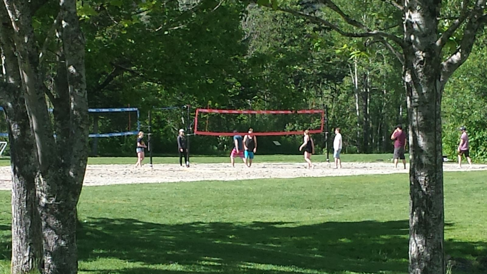 Volleyball courts at Alta Lake
