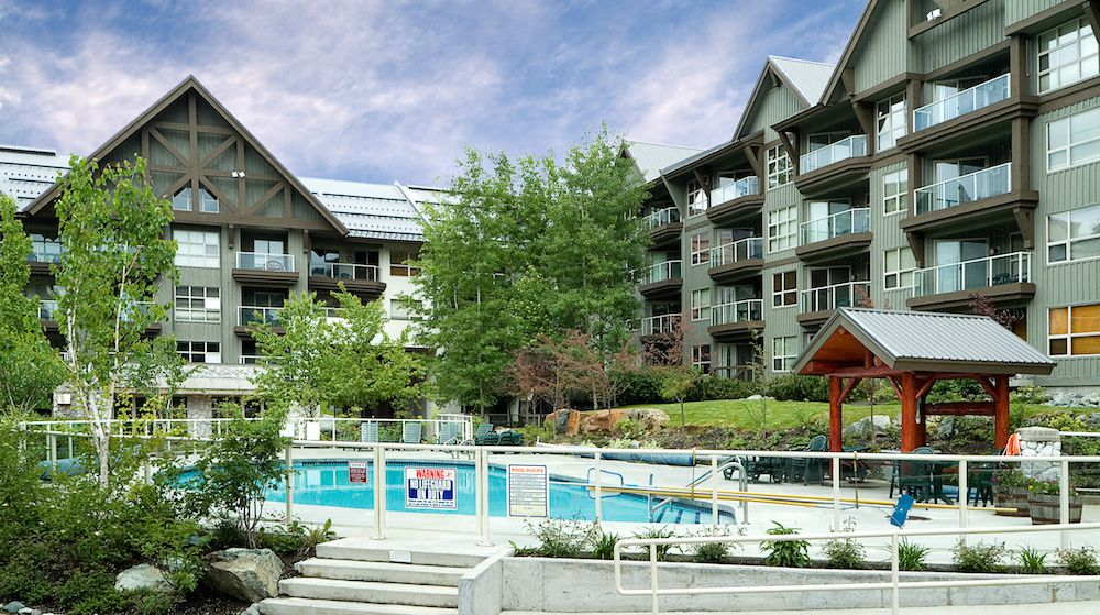 Aspens on Blackcomb condos and pool