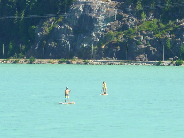 Paddle boarders on Green Lake in Whistler