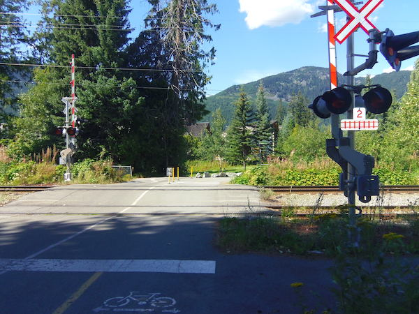 Train crossing at Whistler Valley Trail