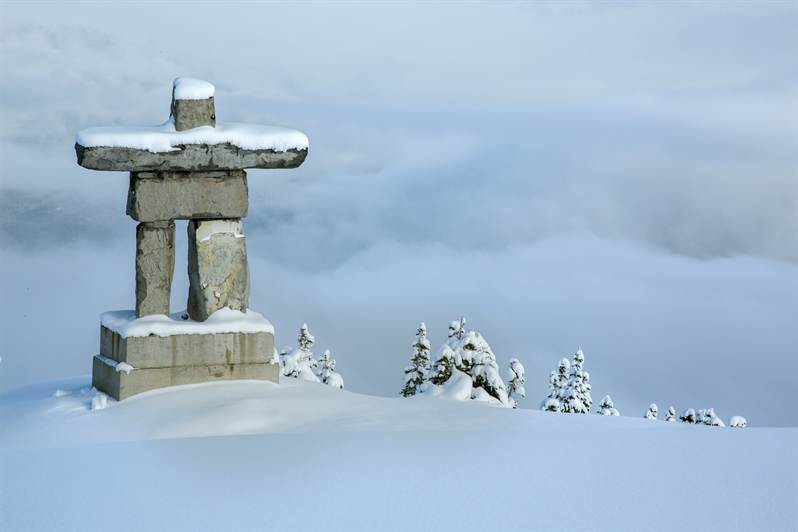 Whistler Mountain Inukshuk Statue Blackcomb Peaks Blog