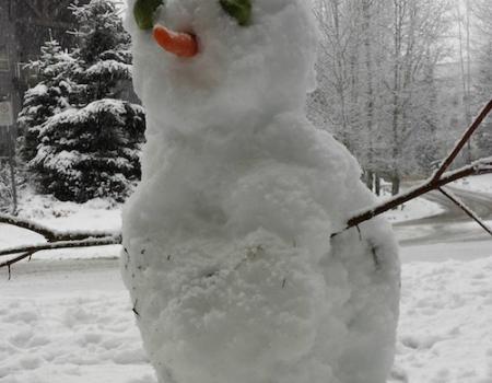 Whistler Village snowman