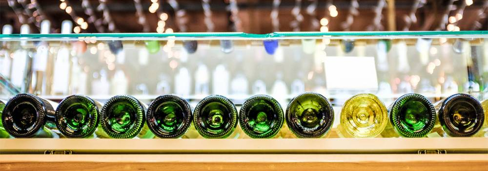 Row of Wine Bottles