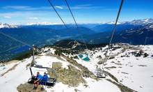Peak chair ride on Whistler Mountain