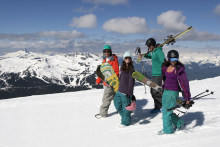 Spring skiing on Blackcomb Mountain