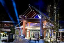 Whistler Conference Center lit up for the Film Festival
