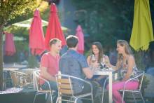 Friends Dining Outdoors in Whistler